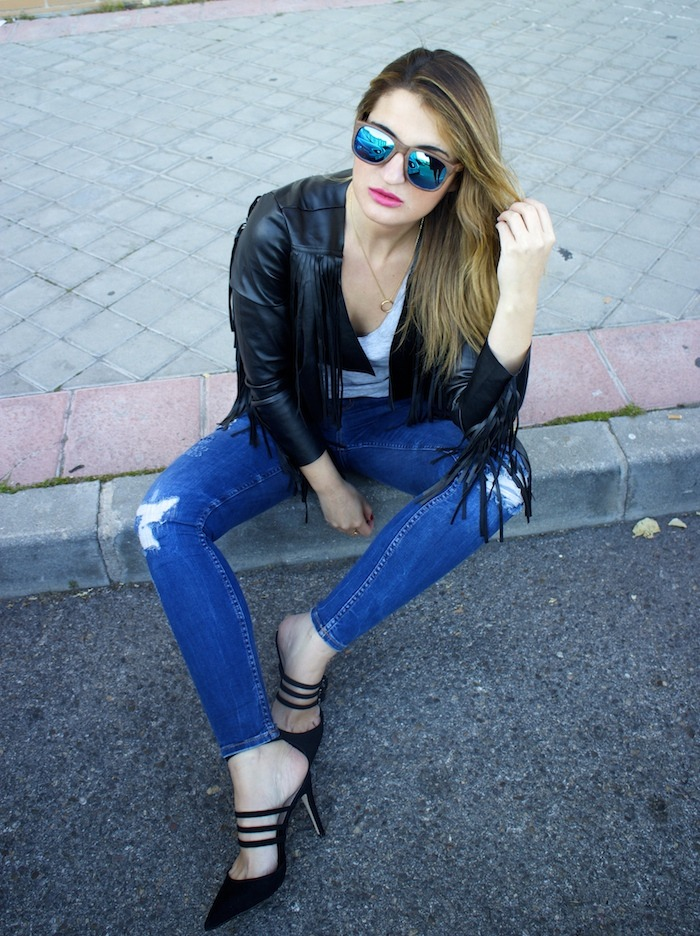 boohoo fringed jacket Prada bag Zara jeans shoes hysteresisofficial sunnies amaras la moda 9