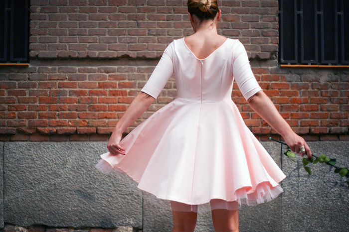 La Redoute pink dress tul amaras la moda ted Baker peeptoes 10