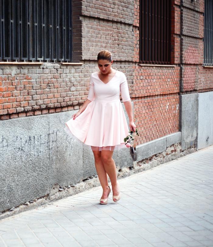 La Redoute pink dress tul amaras la moda ted Baker peeptoes 11