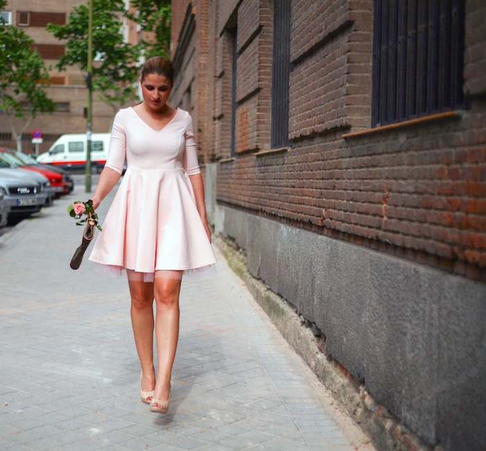 La Redoute pink dress tul amaras la moda ted Baker peeptoes 6