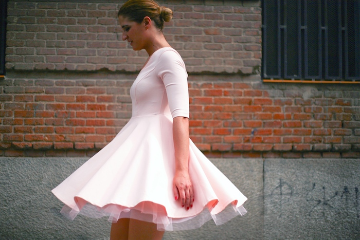 La Redoute pink dress tul amaras la moda ted Baker peeptoes 8