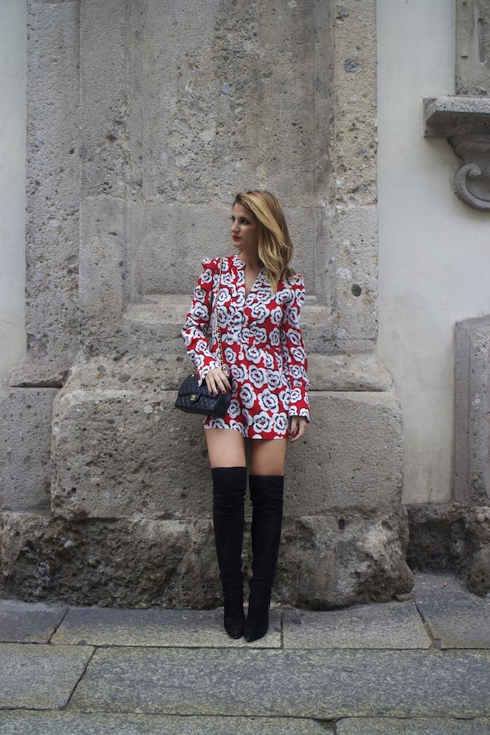 Tara Jarmon Madrid jumpsuit flowers Amarás la moda Paula Fraile 2
