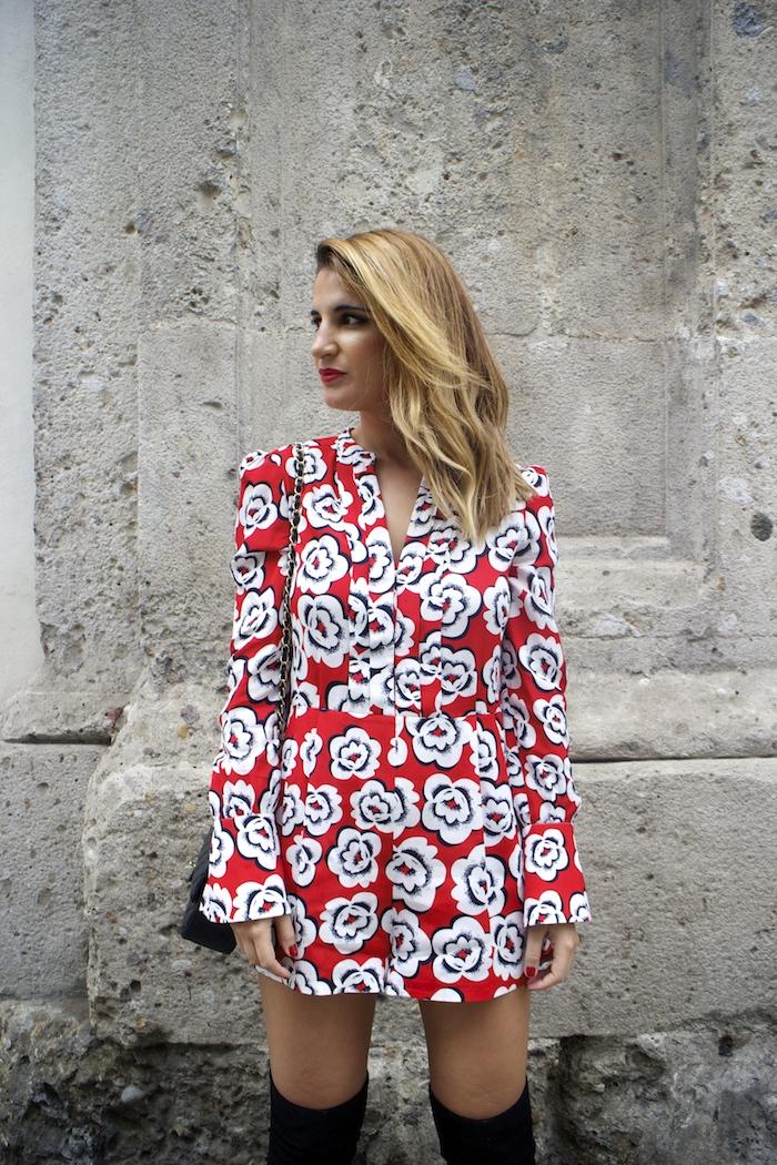 Tara Jarmon Madrid jumpsuit flowers Amarás la moda Paula Fraile