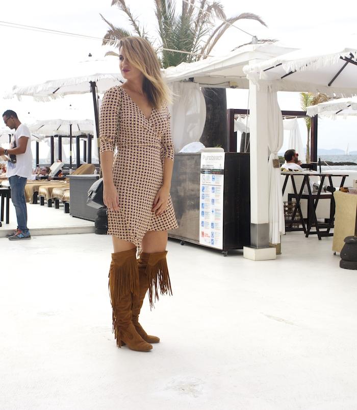 justfab dress amaras la moda zara boots chanel bag Puro Beach Palma de Mallorca Paula Fraile 2