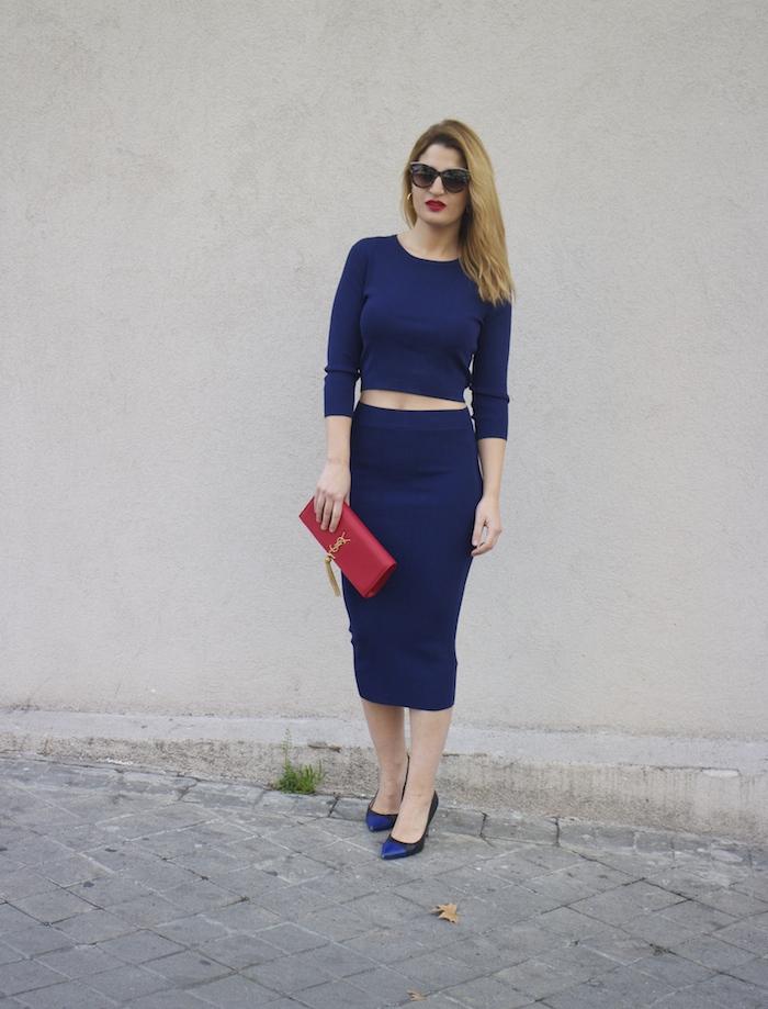 etxart and panno top and skirt Yves saint laurent bag amaras la moda Paula Fraile Fashion blogger2