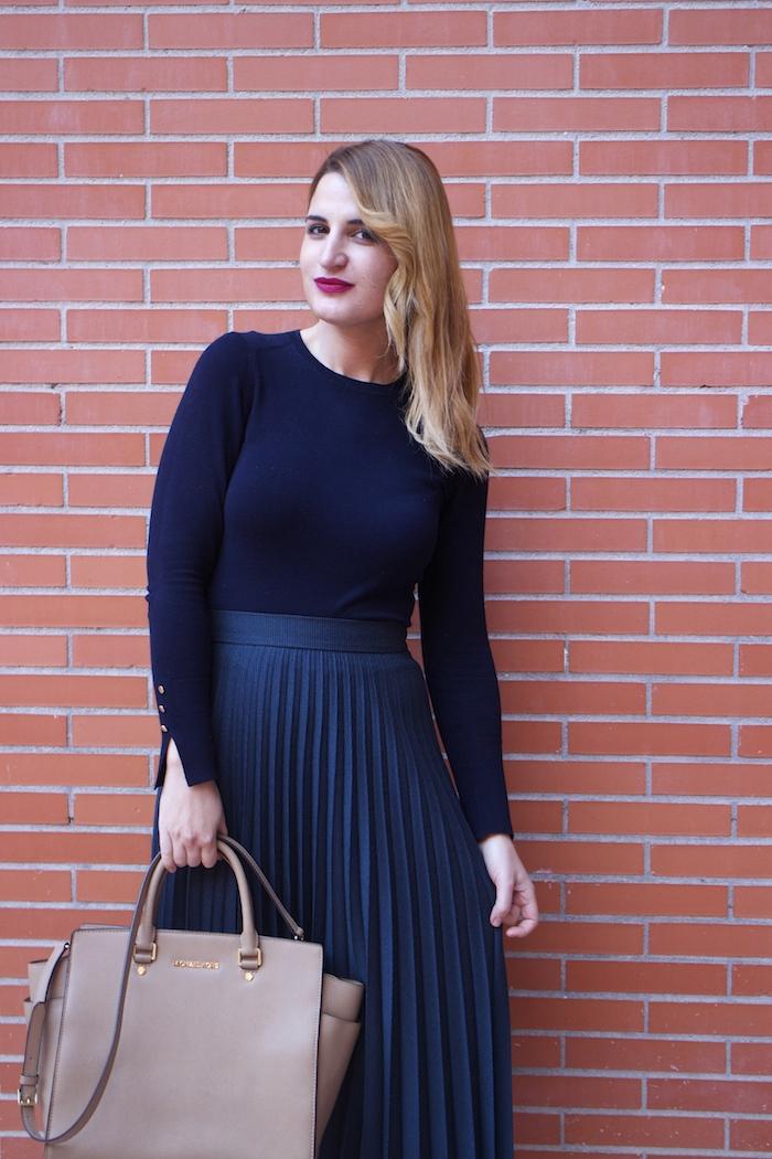 falda plisada Zara zapatos LK Bennett michael kors bag amaras la moda Paula Fraile.8