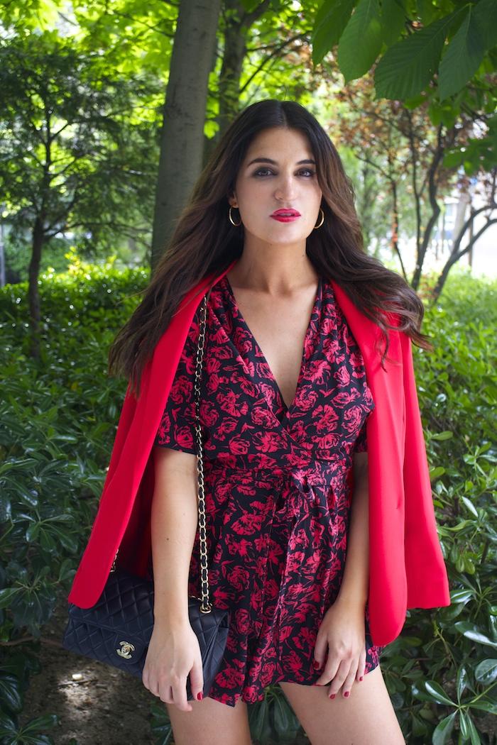 mono easy wear el corte inglés chaque roja tintoretto amarás la moda Paula Fraile Jimmy Choo shoes