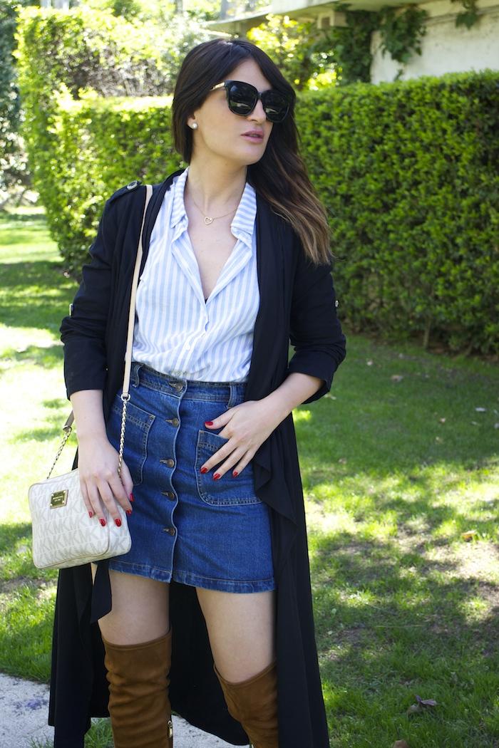 paula fraile la gavia modelo street style zara shirt overthe knee boots amaras la moda5