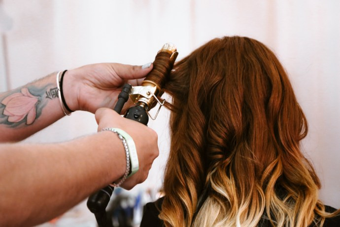 BottleRock Napa Valley Photography of Ombre Hair being Curled by C-Love Team Hair Stylist by Amarie Design Co.
