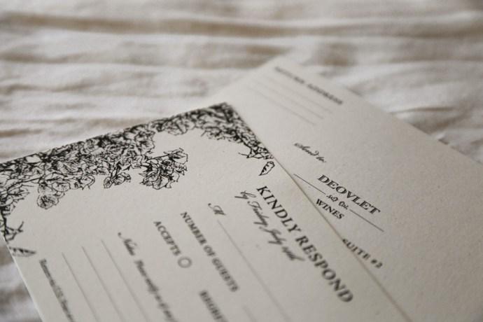 Custom Invitation Suite Design with RSVP Cards for San Luis Obispo Wine Event by Amarie Design Co.