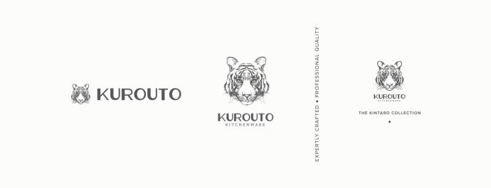 Kurouto Kitchenware Brand Identity Logo Secondary Marks