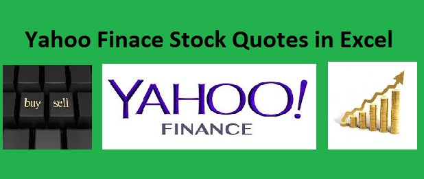 Auto Import Stock Quotes From Yahoo Finance With Excel Vba Amarindaz Adorable Yahoo Stock Quotes