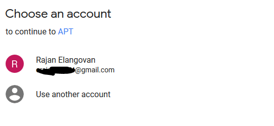Select Gmail account