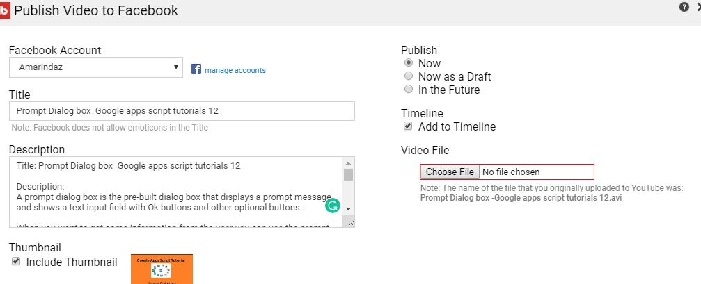 Find out how To Auto Publish Videos From Youtube To Facebook - Amarindaz