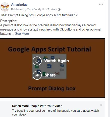 automatically share youtube videos on facebook