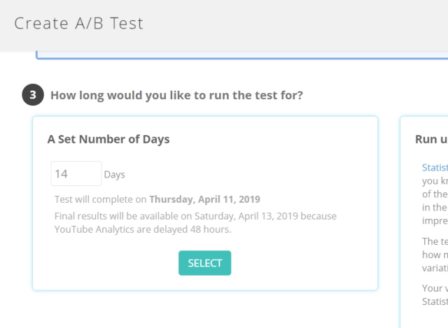 AB test number of days