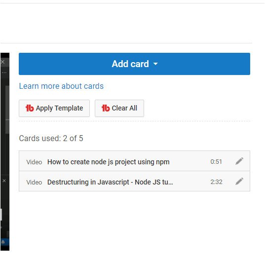 Add Cards in Bulk on YouTube