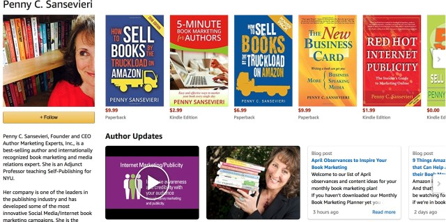 Amazon Author Central | AMarketingExpert.com