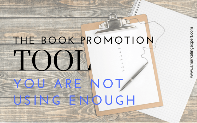The Book Promotion Tool Tool You Are Not Using Enough | AMarketingExpert.com