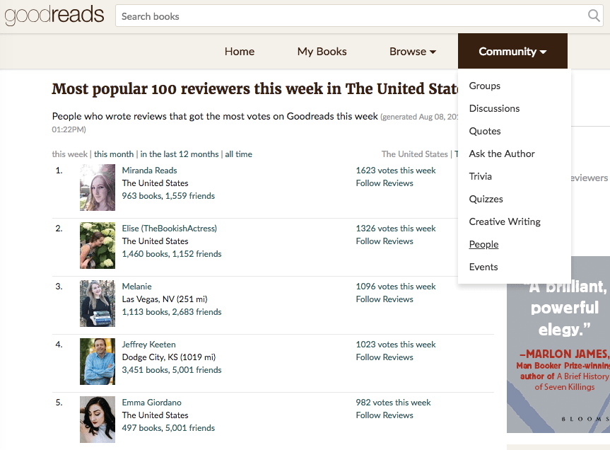 Networking on Goodreads   Goodreads giveaways