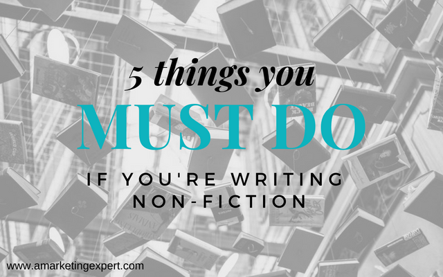 5 Things You Must do if You're Writing Non-Fiction | AMarketingExpert.com | Penny Sansevieri | non-fiction book marketing