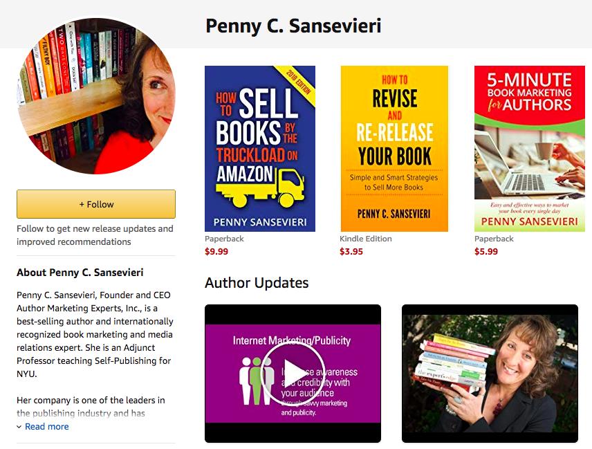 amazon book marketing complaints | Follow Button | AMarketingExpert.com | Penny Sansevieri