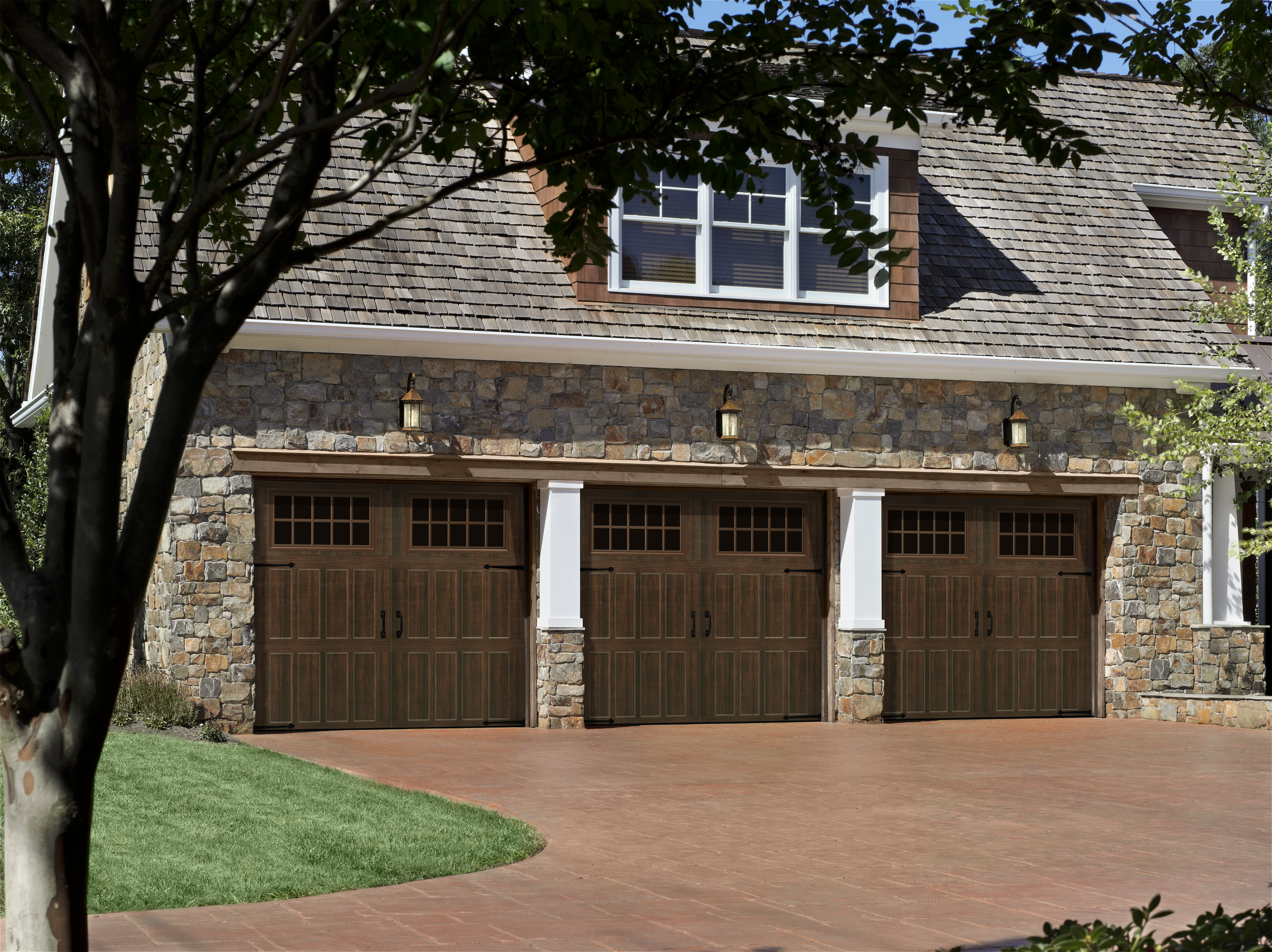 Enhance Curb Appeal with a Carriage House Style Garage ... on Garage Door Colors Pictures  id=67597