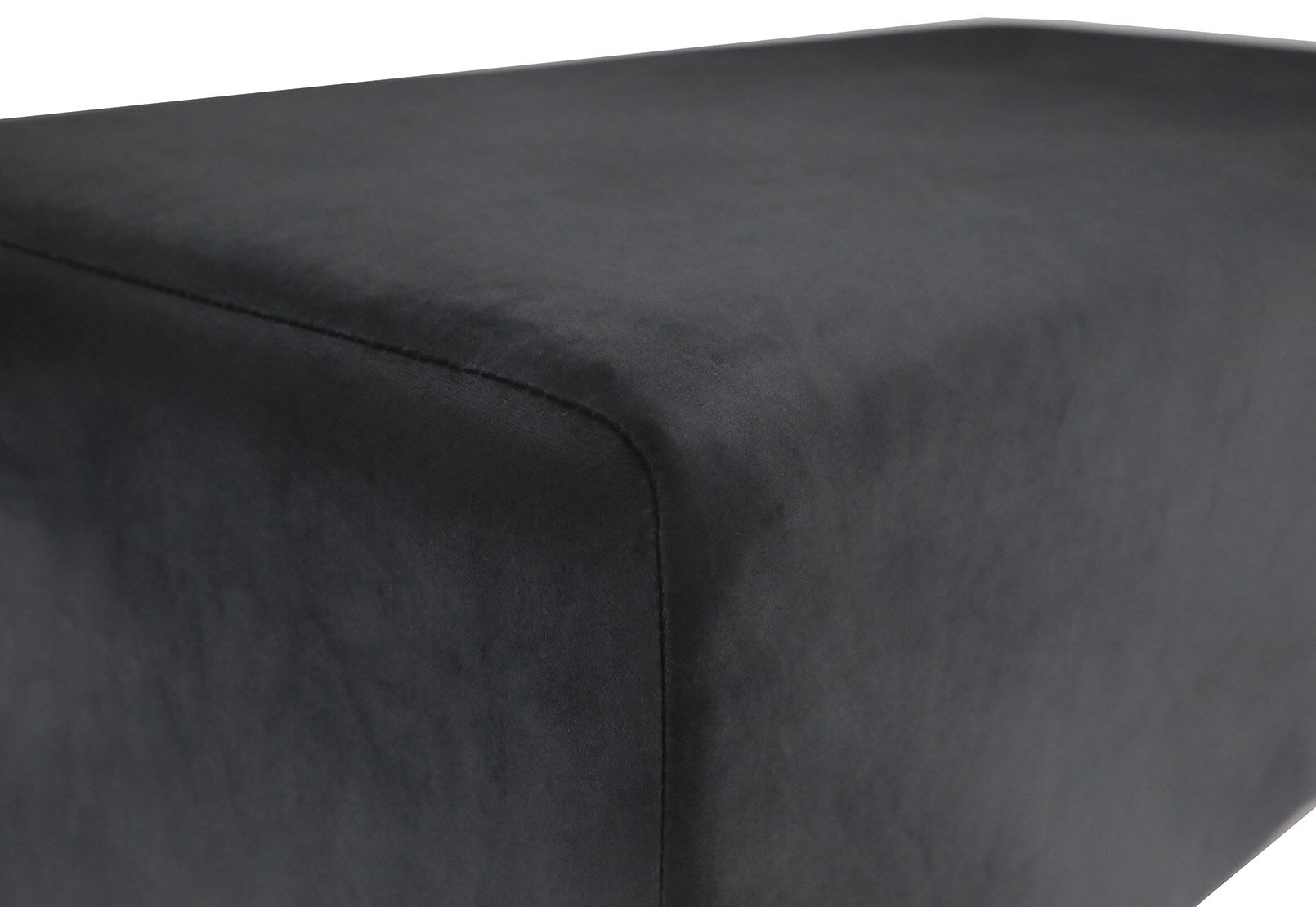 Black Enfield Black Upholstered Bench Amart Furniture