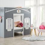 White Stone Grey Hillside Loft Bunk Bed Amart Furniture