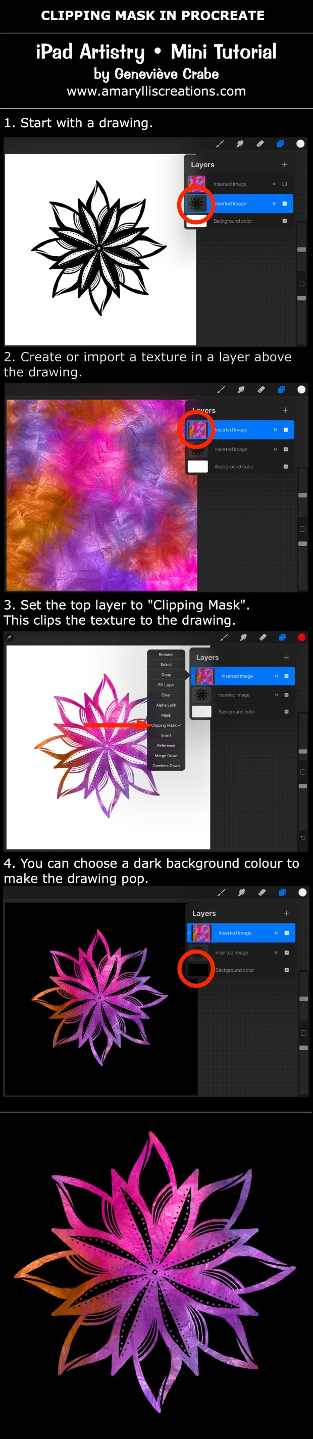 Mini tutorial: Clipping Mask in Procreate on iPad