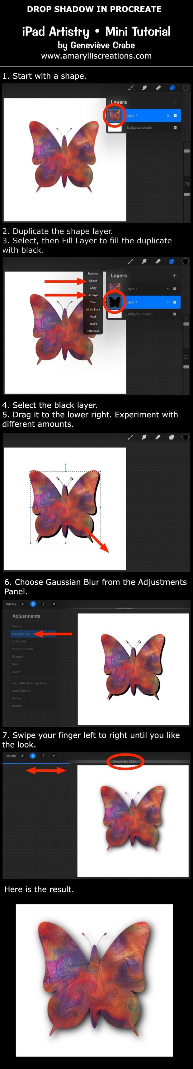 Mini tutorial: Drop Shadow in Procreate on iPad