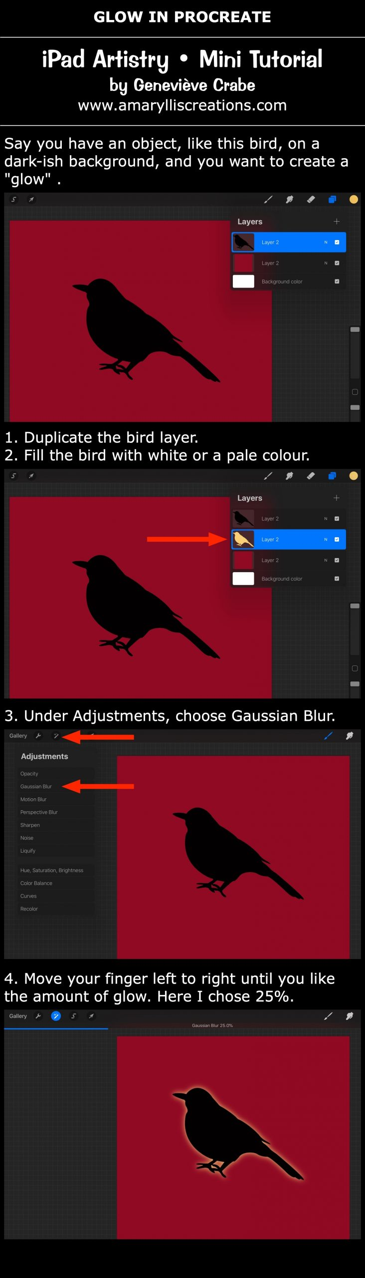 Mini tutorial: Glow in Procreate on iPad