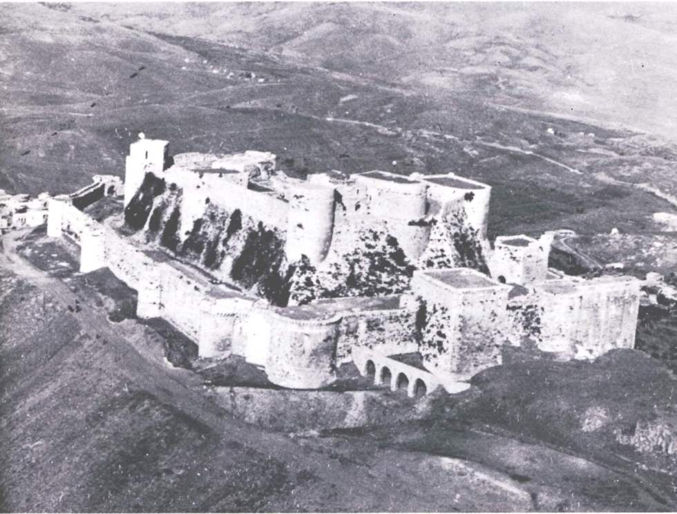 Aerial view of Krak des Chevaliers Taken from Guidebook ©Syrian Directorate of Antiquities 1982