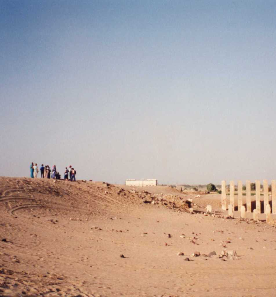 Temple ruins in Marib, reputed capital of the Queen of Sheba. It is more excavated now but who can see it ?