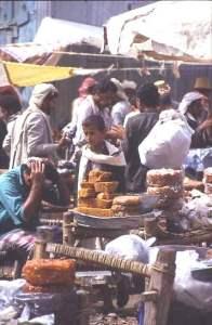 Date stall, Yemen