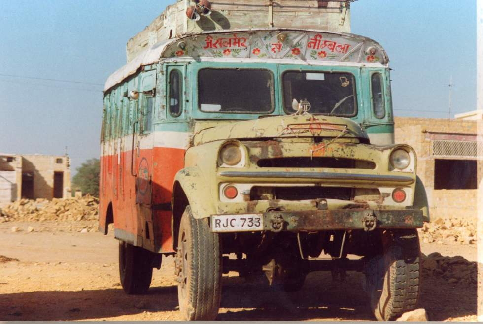 Rajasthani country bus