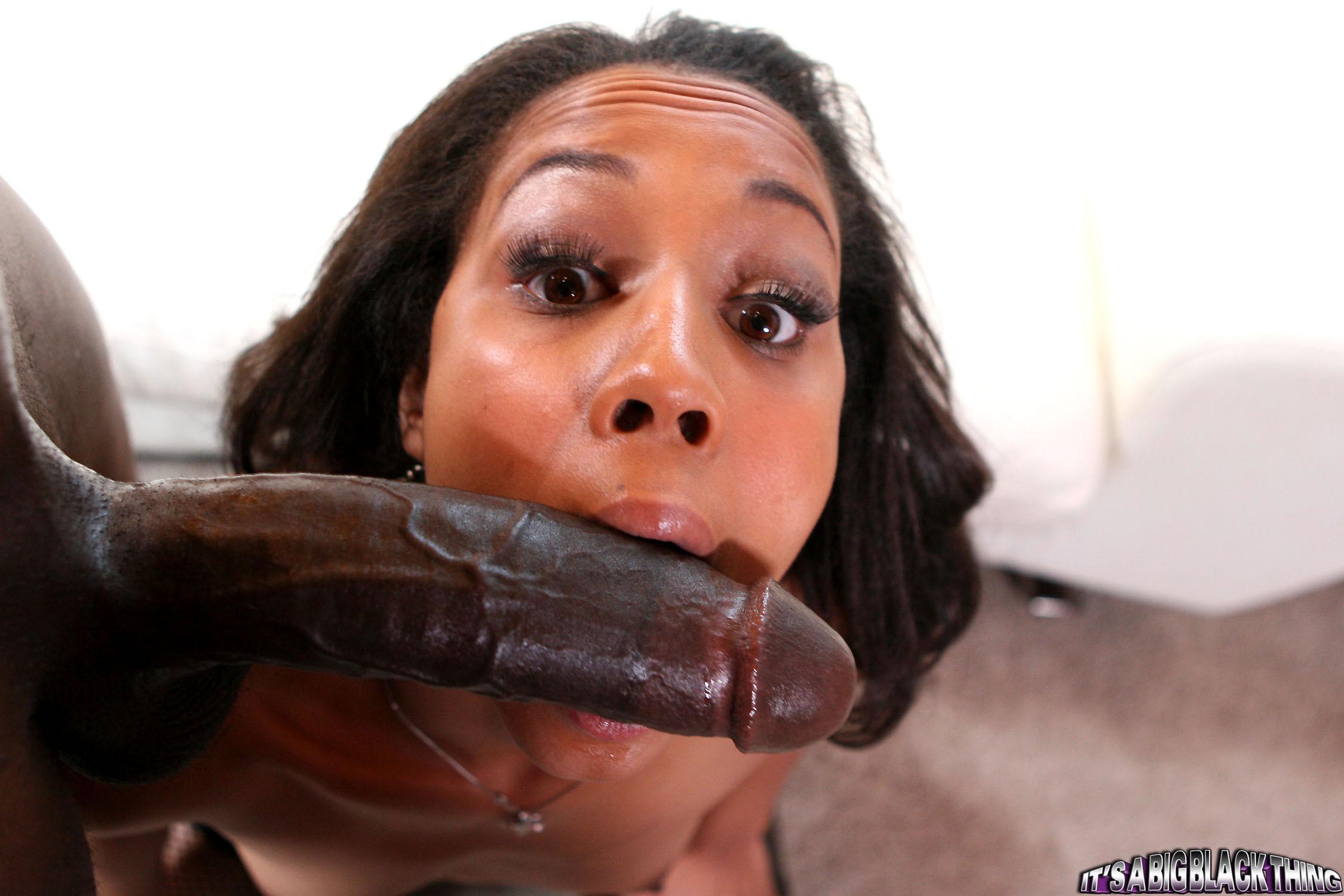 Ebony Sucking Dick Blindfolded
