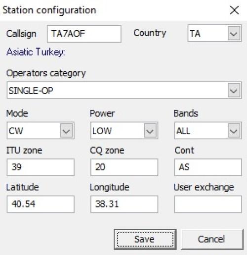 istasyon bilgileri