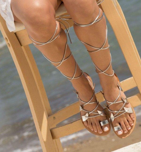 Amphitrite Greek Leather Sandal