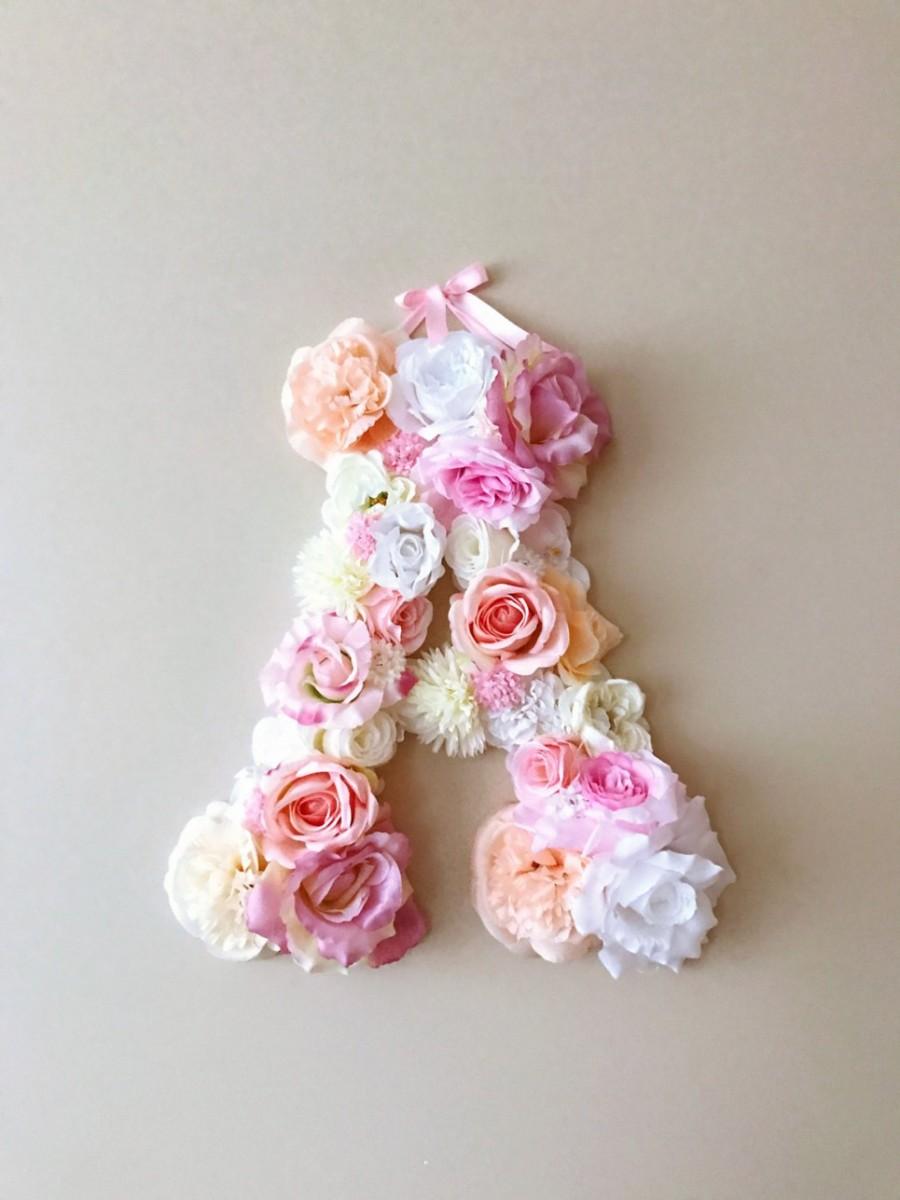 MSDAVF017 – Soft Pink Custom Flower Letter – PINK