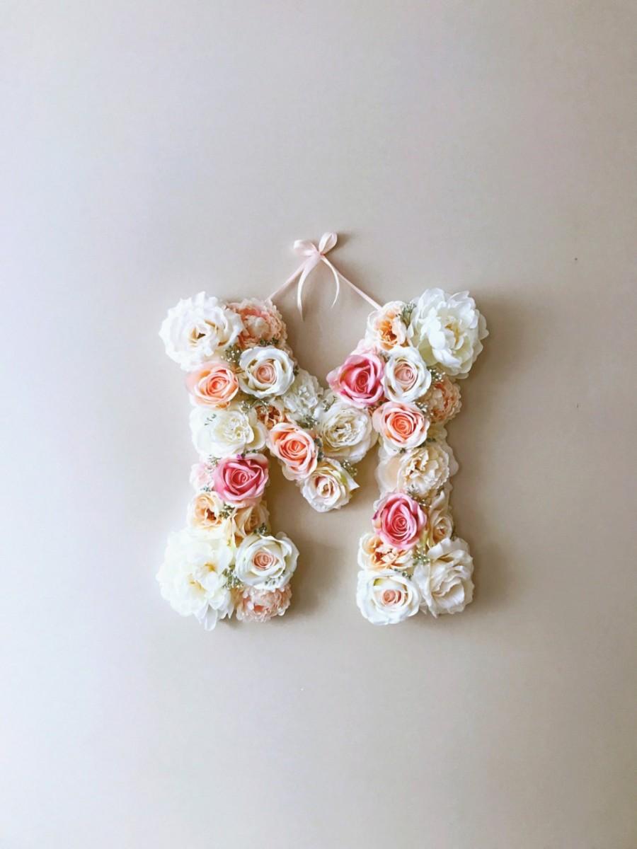 MSDAVF026 – Light and Ballet Pink Custom Flower Letter – PINK