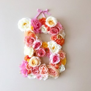 Completely handmade, the Citrus Custom Flower Letter is a great for decoration at a wedding using the couples initials, and a lovely keepsake for afterwards.