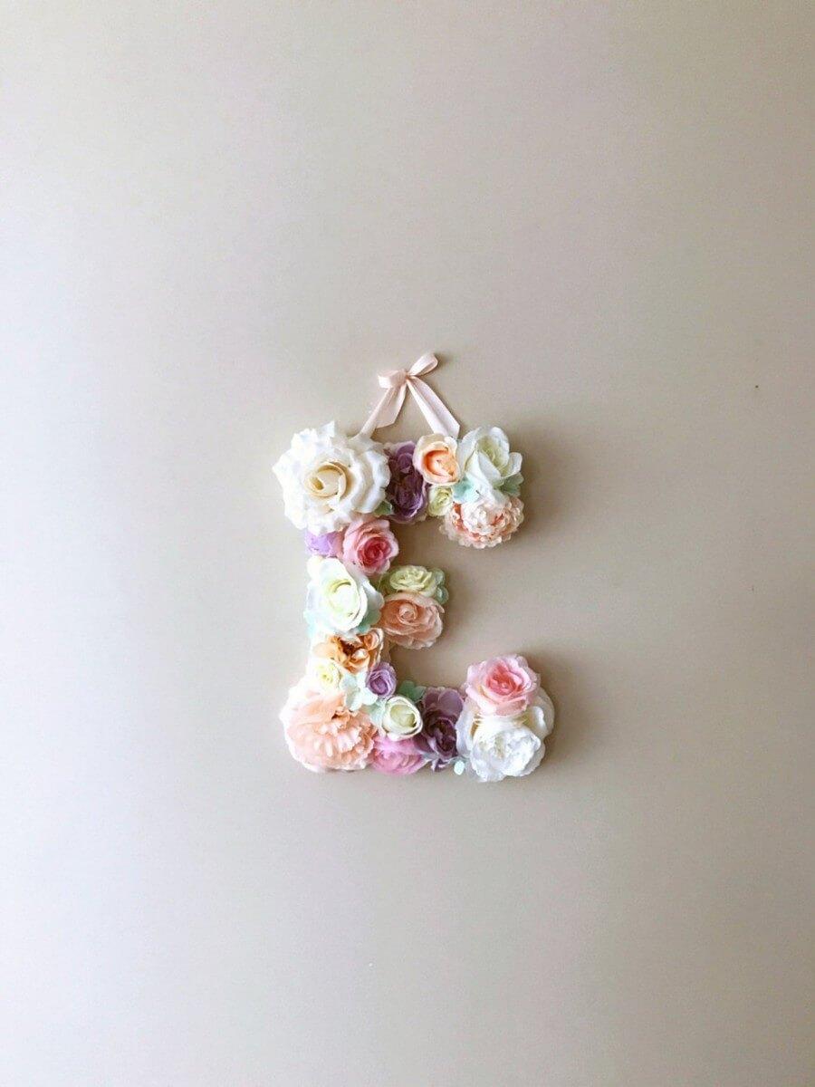 MSDAVF031 – Salmon Pink Custom Flower Letter – PINK