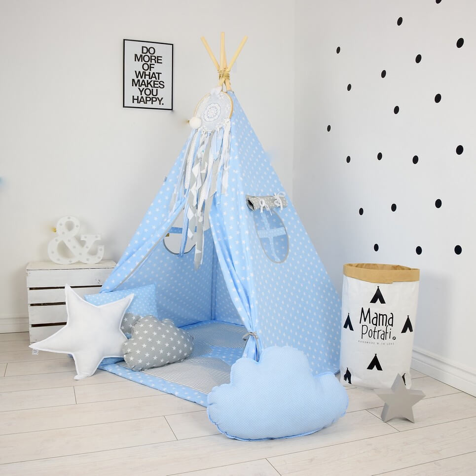 MSGFFK013 – Baby Blue Children's Teepee Tent