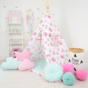 Add the perfect touch to your child's room with the Thumbelina Children's Teepee Tent. Let your little enjoy their own teepee for hours of play time and imagination.