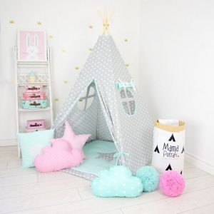 Add the perfect touch to your child's room with the Family Stories Children's Teepee Tent. Let your little enjoy their own teepee for hours of play time and imagination.