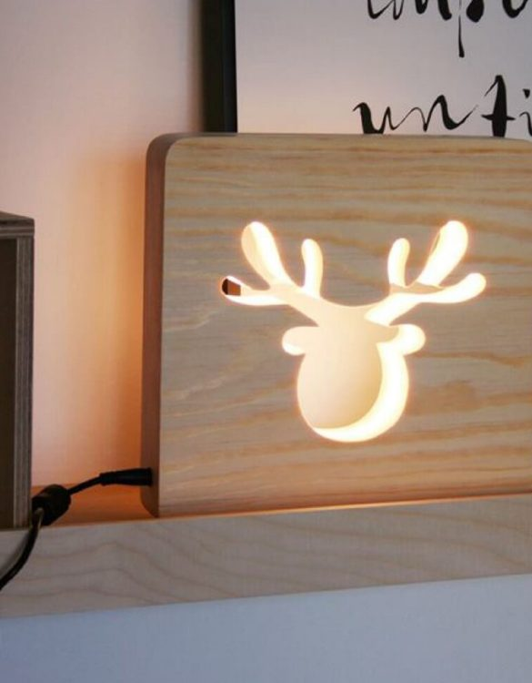 With a delicate warm light to bring a lot of joy and coziness to the child's room, the Moose Nursery Lamp will comfort your little one when falling asleep or to join them during sleepovers or to decorate their room.