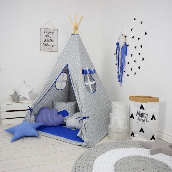 Dark Blue Sky Children's Teepee Tent