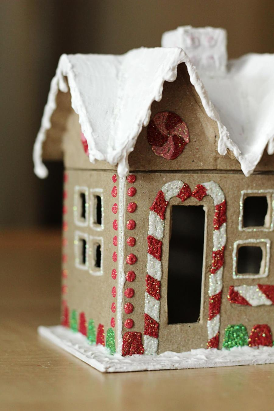 Upcycle cardboard boxes into fun and festive packages kids will love.