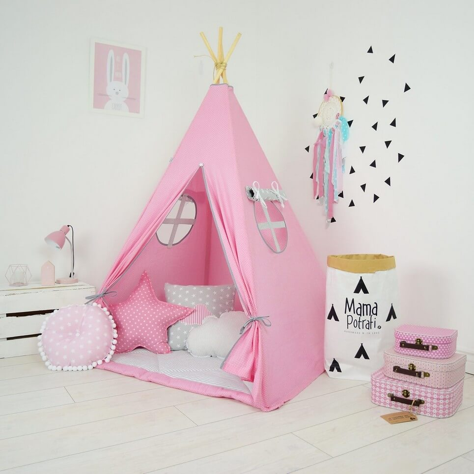 Sweet Pink Children's Teepee Tent
